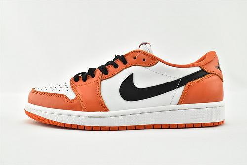 Air Jordan 1 AJ1 Low AJ1 乔丹1代低帮篮球鞋/白橙 白扣碎  货号:CZ0790-801  男女鞋  情侣款