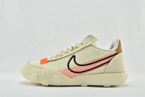 Nike WAFFLE RACER 20 秋季运动跑鞋/华夫2.0 米黄橙 货号:CK6647-200   男鞋