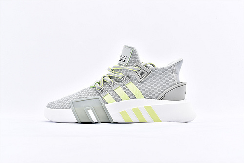 Adidas EQT Bask ADV 复古篮球鞋/网面 灰绿 2019夏季新款  货号:BD7783  男女鞋  情侣款