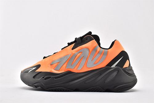 Adidas Yeezy 700 V3 椰子复古老爹鞋系列/黑橘 黑橙 款 3M反光版   货号:FV3258  男女鞋  情侣款