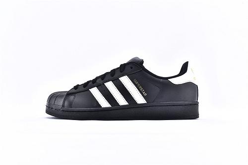Adidas 三叶草 Superstar 贝壳头系列/头层 黑白  货号:B27140  男女鞋  情侣款