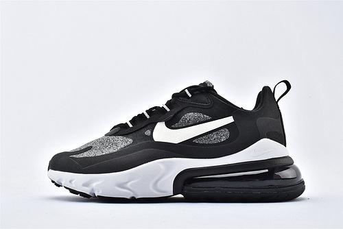 "Nike Air Max 270 React ""BAUHAUS"" 半小掌气垫气垫跑鞋/黑灰白 拼色 泡棉  芯片版  货号:AO4971-001  男女鞋 情侣款"