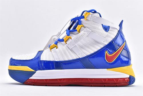 Nike Zoom Lebron III QS 詹姆斯3代篮球鞋/全明星  白兰黄  货号:AO2434-110  男鞋