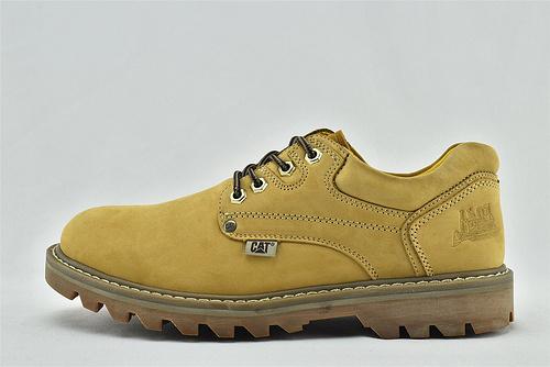 卡特/CAT 2020秋款 美版复古低帮户外工装靴/深咖色 小麦色 两色发售  全头层  男鞋