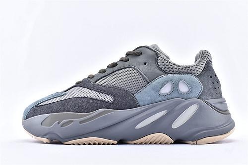 Adidas Yeezy Boost 700 '' Teal Blue '' V2 椰子700复古老爹鞋/青蓝 水鸭蓝侃爷最新力作 3M反光版  纯原版  货号:FW2499  男女鞋 情侣款