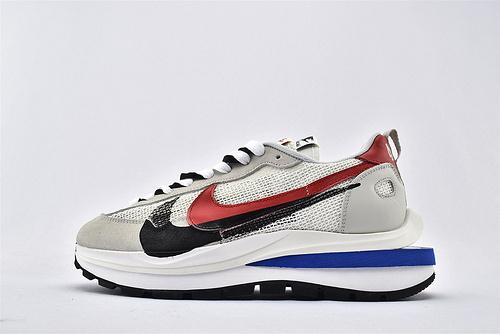 Sacai x Nike LVD Waffle Daybreak 联名走秀款解构高端跑鞋/新华夫 灰黑红蓝 网面透气 2020最新款  货号:CI9928-010  男女鞋  情侣款