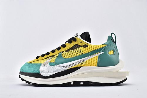 Sacai x Nike LVD Waffle Daybreak 联名走秀款解构高端跑鞋/新华夫 黑黄绿 网面透气 2020最新款  正确版  货号:CI9928-300  男女鞋  情侣款