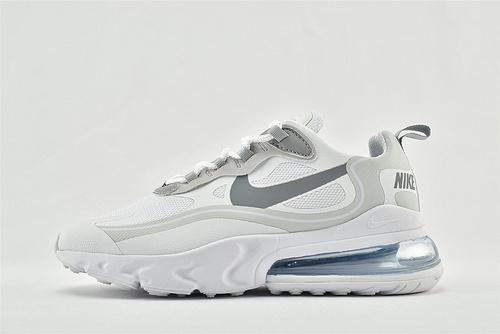 "Nike AirMax 270 React ""BAUHAUS"" 半小掌气垫气垫跑鞋/白浅灰 3M反光版  货号:CV1632-100"