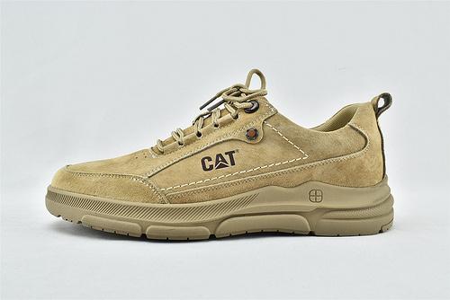 卡特/CAT 2021新款 美版低帮休闲皮鞋/小麦色 草绿色   男鞋