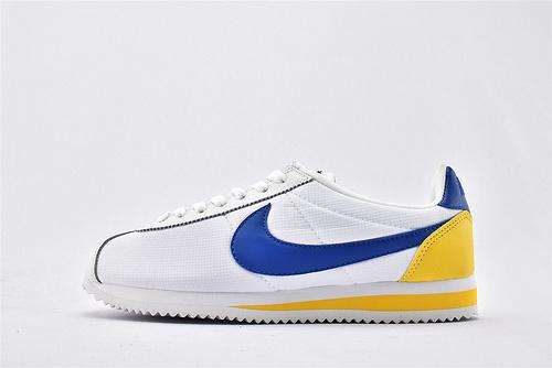 Nike Classic Cortez阿甘系列跑鞋/白蓝黄  纯原版  货号:905614-105  男女鞋  情侣款