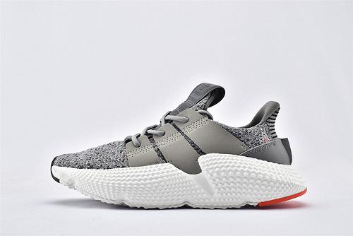 Adidas 三叶草 Prophere 复古跑鞋/刺猬 灰白原盒原标 货号:CQ3023  男女鞋 情侣款