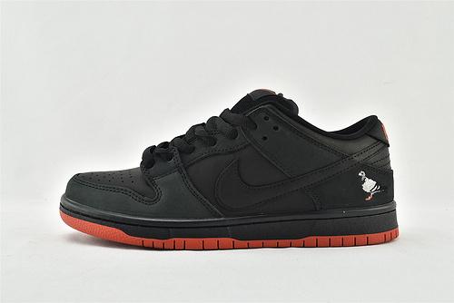 "Jeff Staple x Nike Dunk SB Low ""Pigeon"" 低帮滑板鞋/黑鸽子   货号:883232-008   男女鞋  情侣款"
