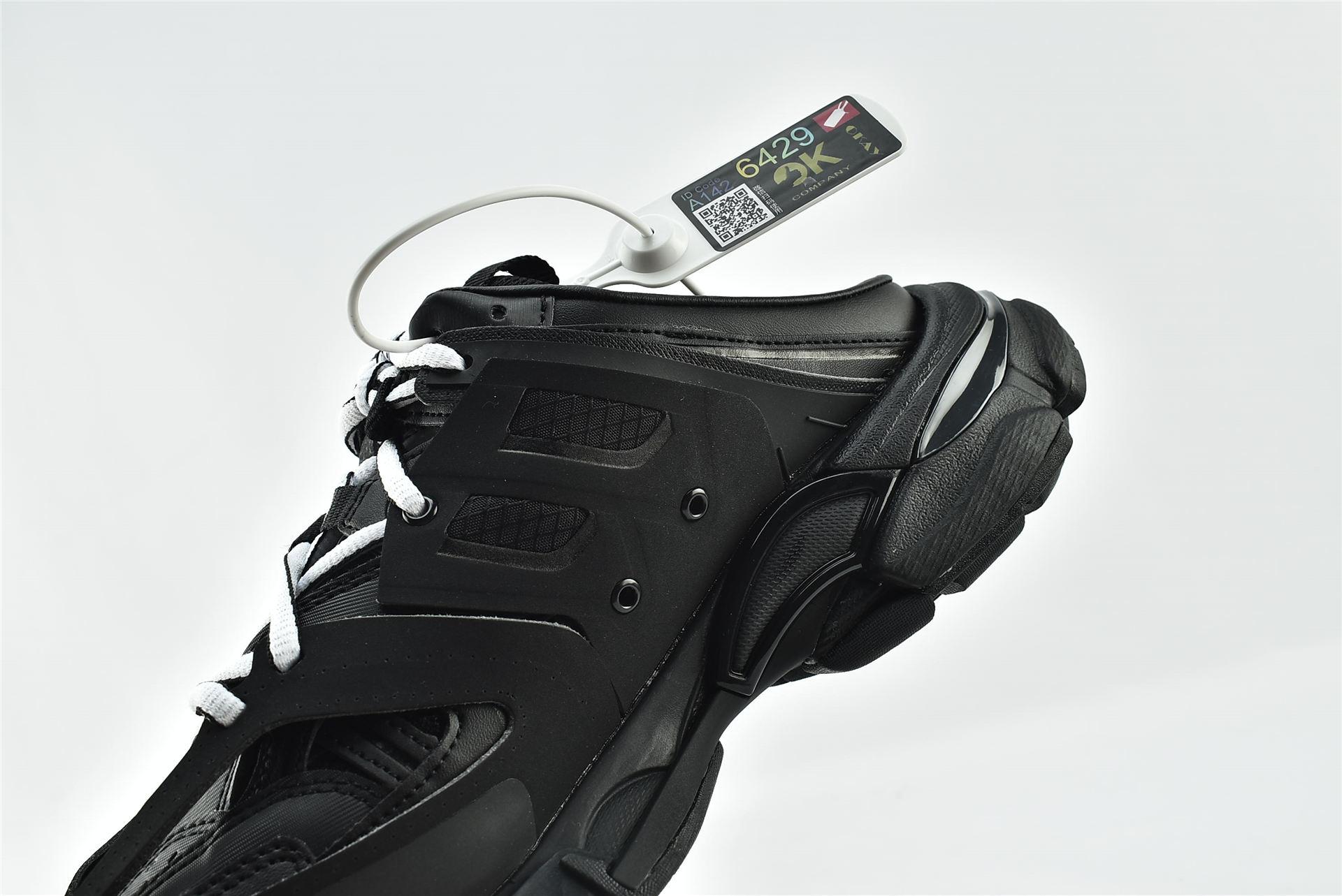 Balenciaga/巴黎世家 3.0 ins复古老爹鞋/非做旧 海外版 黑色 黑武士 半拖  男女鞋  情侣款