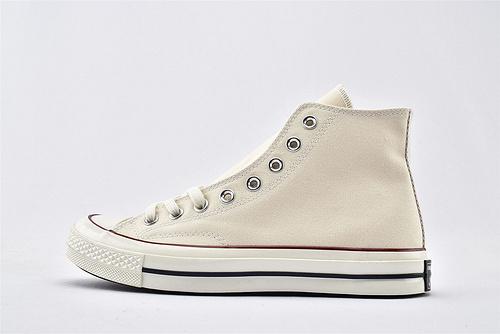CONVERSE/匡威 1970S 三星黑标高帮滑板鞋/米白 过验版  货号:162053C 男女鞋  情侣款