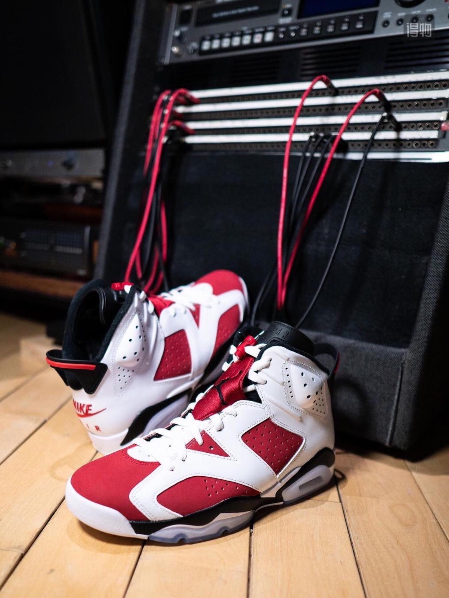 "Air Jordan 6 Retro ""Carmine""胭脂 S2原装对比图"