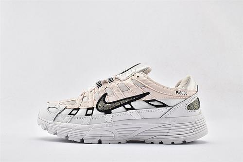 Nike P-6000 复古老爹网面跑鞋/粉白黑  货号:CJ9685-600  女鞋