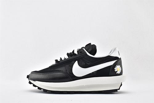Sacai x Nike LVD Waffle Daybreak 联名走秀款解构高端跑鞋/网纱透明 黑白雏菊 华夫款  货号:BV3692-001  男女鞋  情侣款