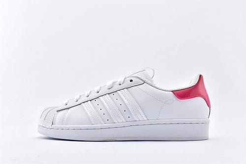 Adidas 三叶草 Superstar 贝壳头板鞋/全白红尾 内侧白红 东京限定 原标原盒  全头层  货号:FW2855  男女鞋  情侣款