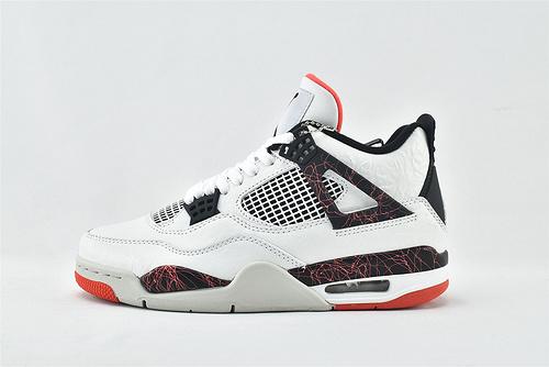 Air Jordan 4 White Cement AJ4 乔丹4代篮球鞋/大理石 热熔岩 白红   货号:308497-116  男鞋