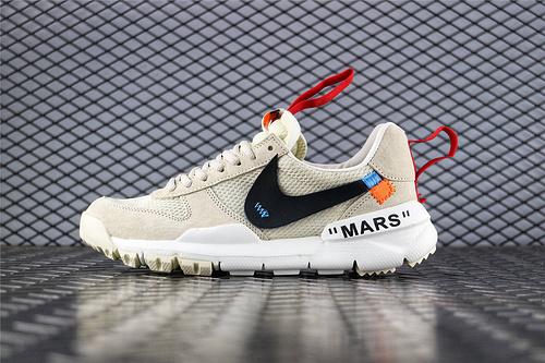 Nike Mars Yard x Off-White 联名款2.0宇航员/复古跑鞋 米白 货号:AA2261 100 男女鞋 情侣款