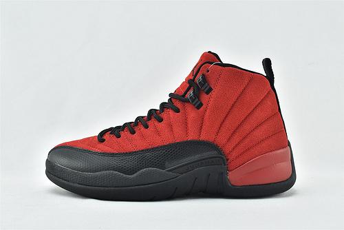 Air Jordan 12 AJ12 乔丹12代高帮篮球鞋/反转 黑红 红牛 病倒 麂皮  货号:CT8013-602  男鞋