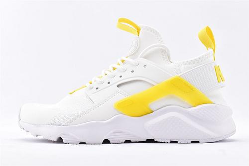 Nike Air Huarache Run Ultra 华莱士4.0系列跑鞋/白黄  货号:847569-994  男女鞋  情侣款
