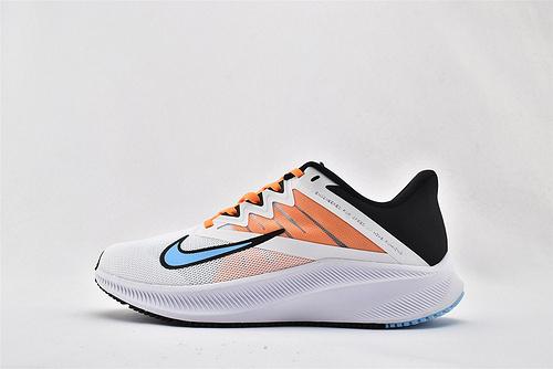Nike QUEST 3 登月3代 运动跑鞋/黑白橙蓝  货号:CD0232-101    男女鞋  情侣款
