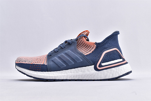 Adidas Ultra Boost UB19 W 爆米花缓震跑鞋/深蓝粉 巴斯夫黑盒 原装版  货号:G54013  男女鞋  情侣款