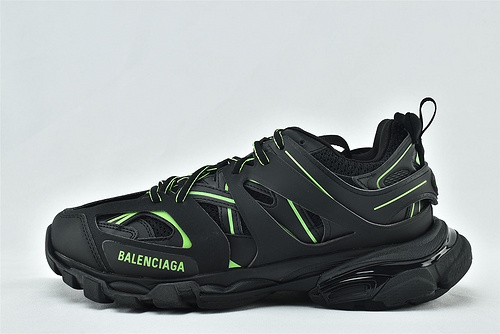 Balenciaga/巴黎世家 3.0 ins复古老爹鞋/非做旧 海外版 黑绿   纯原版   男女鞋  情侣款