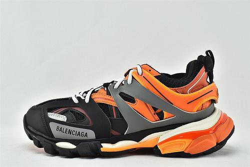Balenciaga/巴黎世家 3.0 ins复古老爹鞋/非做旧 海外版 黑橘   男女鞋  情侣款