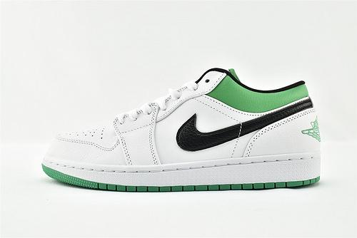 Air Jordan 1 AJ1乔丹1代低帮篮球鞋系列/凯尔特人 白绿   货号:553558-129   男女鞋  情侣款
