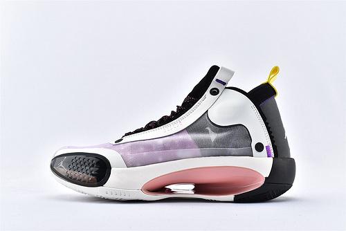 Air Jordan 34 Paris GameAJ34 乔丹34代篮球鞋/巴黎 黑粉 款 蚕翼镂空 实战篮版  货号:CZ7752-601  男鞋