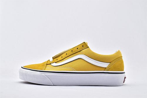 Vans/万斯 Classic Old Skool 经典低帮滑板鞋/落日黄 黄白 过验版  男女鞋  情侣款