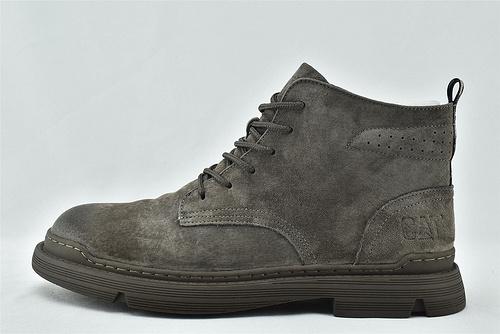 卡特/CAT 2020秋冬新款 美版高帮户外皮靴/卡其色 深灰色 自然做旧  全头层   男鞋