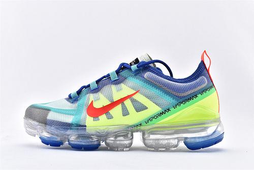 Nike Air VaprMx F1yknit 2019大气垫缓震跑鞋/蓝红 荧光绿  货号:AR6631-402  男女鞋  情侣款