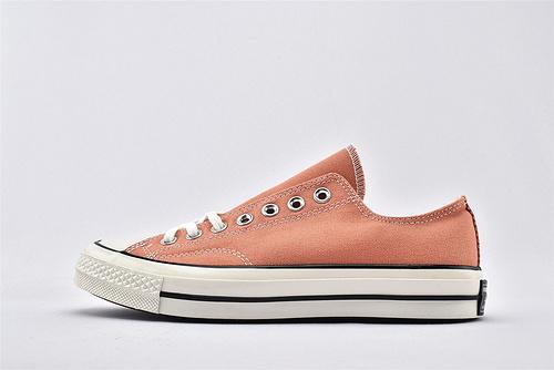 CONVERSE/匡威 1970S 三星黑标低帮滑板鞋/樱桃粉  过验版  货号:164714C  男女鞋  情侣款
