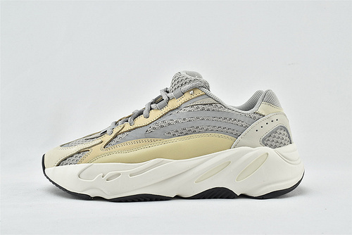 Adidas Yeezy Boost 700 V2 Cream 椰子700复古老爹鞋/奶油 灰白 3M反光版  货号:GY7924    男女鞋 情侣款