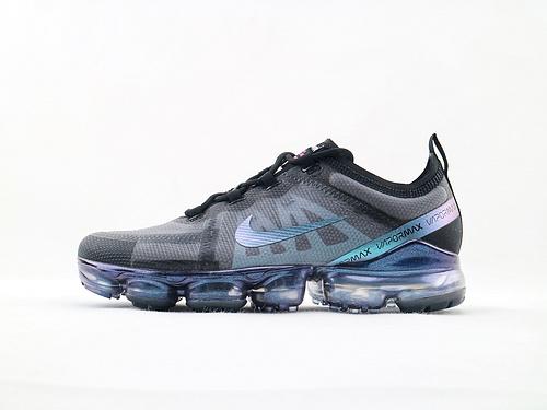 Nike AIR Vapormax Flyknit 2019大气垫缓震跑鞋/黑紫 货号:AR6631 001  男鞋