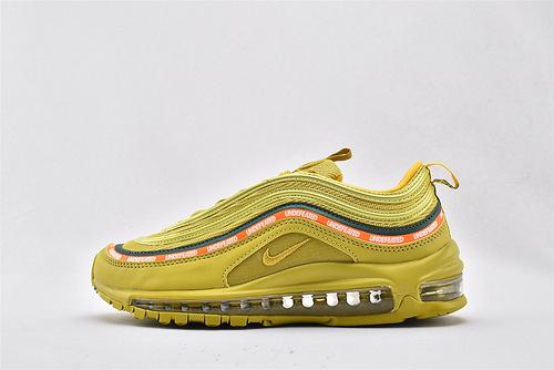 Nike Air Max 97 Und Undefeated子弹联名气垫跑鞋/落日黄  货号:AJ1986-006  男女鞋  情侣款