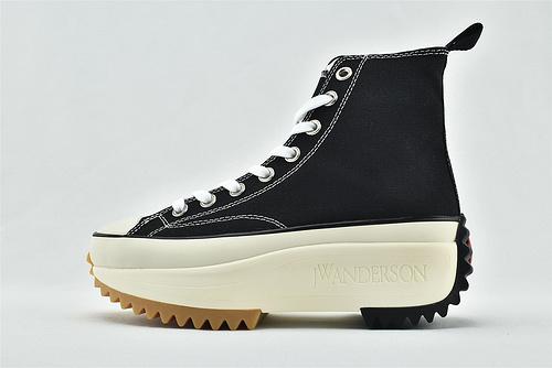Converse/匡威 xjwanderson 厚底增高 高帮滑板鞋/黑白  版  男女鞋  情侣款
