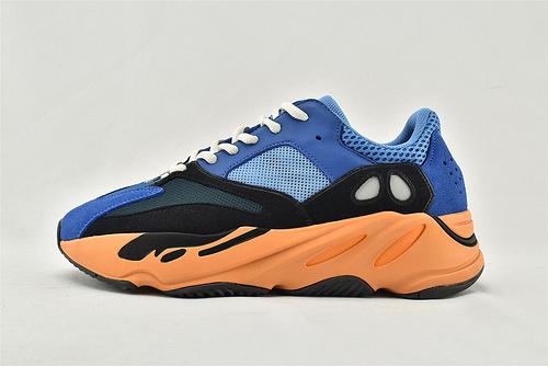 Adidas Yeezy Boost 700 Vanta 椰子700复古老爹鞋/黑蓝橙  货号:GZ0541  男女鞋  情侣款
