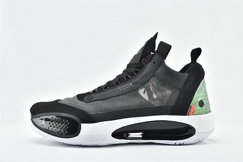 Air Jordan XXXIVPF 34 AJ34 乔丹34代篮球鞋/郭艾伦 黑白红 网纱透明  灭世版  货号:CU3475-001  男鞋
