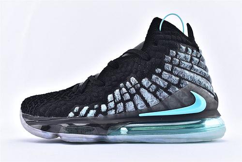 Nike LeBron 17 Bron 2K 詹姆斯17代篮球鞋/黑绿  货号:BQ3177-914  男鞋