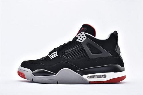 Air Jordan AJ4 乔丹4代篮球鞋/黑红公牛 纯原年 19年经典复刻 纯头层  纯原版 货号:308497-060  男鞋