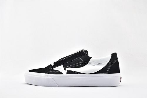 Vans/万斯 Old Skool 低帮滑板鞋/黑白 特别设计 不规则形状 硫化底 原标原盒  男女鞋  情侣款