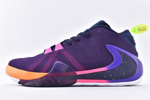 Nike Zoom Freak 1 字母哥1代高端篮球鞋/签名款 紫蓝橙反钩  实战纯原版   货号:BQ5423-901  男鞋