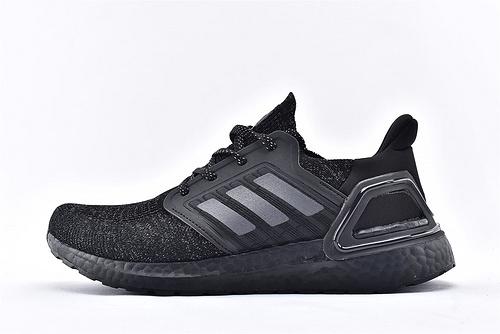 Adidas Ultra Boost UB19 m 爆米花5.0缓震跑鞋/黑武士 3M反光版 针织面弹力包裹 高端爆米花大底 马牌鞋底支持  货号:EG0708  男女鞋  情侣款