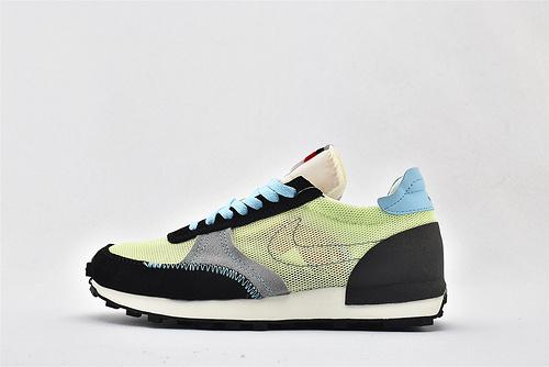 Nike DBREAK-TYPE 华夫款网面跑鞋/黑绿蓝  货号:CW7566-700   男女鞋  情侣款