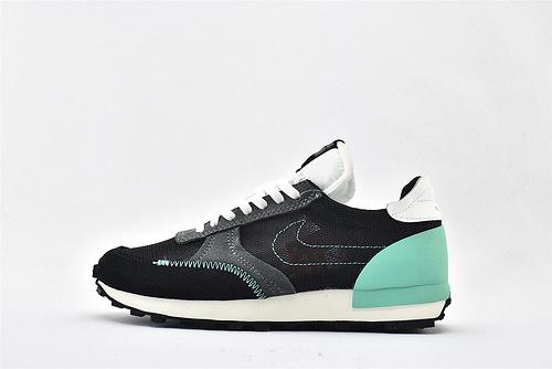 Nike DBREAK-TYPE 华夫款网面跑鞋/黑绿  货号:CJ1156-001    男女鞋 情侣款