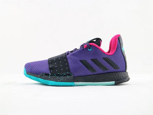 Adidas Harden Vol. 3.0 哈登3.0系列爆米花篮球鞋/黑紫  货号:G54768  男鞋